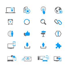 Internet network icon set
