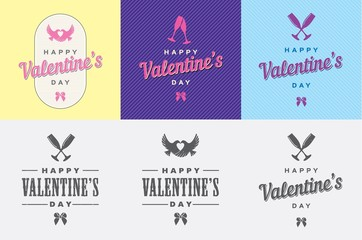 Happy Valentine's Day Vector Template