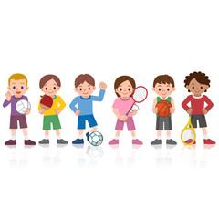 スポーツをする子供たち
