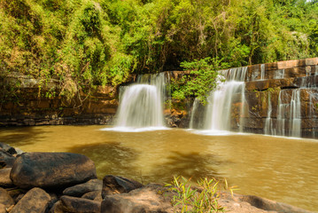 Sri Dit Waterfall in  in Thai National Park, Thung Salaeng Luang National Park, Petchaboon Province, Thailand, in summer season