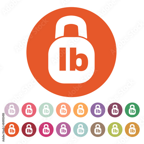 The Pound Icon Lb And Weight Symbol Flat Stock Image And Royalty