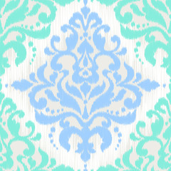 Ikat damask seamless pattern