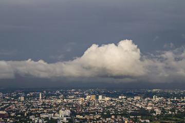nimbus over the city