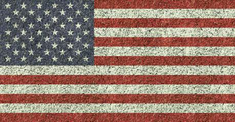 USA flag texture on green grass