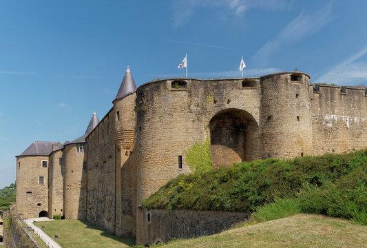 château fort de Sedan vu d'en haut.