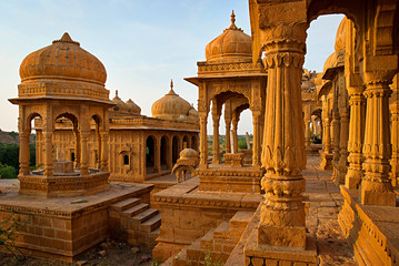Royal cenotaphs  in Jaisalmer, Rajasthan, India