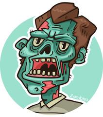 portrait of a zombie circle