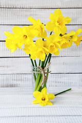 Fragrant daffodils in a vase