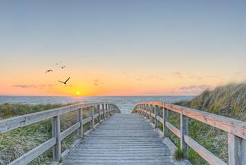 Fototapete - Sonne Strand Meer