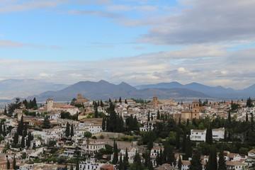 Blick vom Alhambra auf Granada