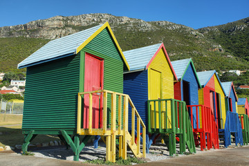 Public bathrooms of Saint James beach in Muizenberg