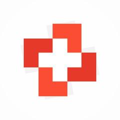 Vector medical cross logo or icon