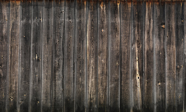 Dark gray wooden boards wall texture