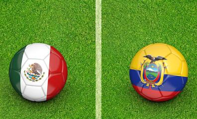 2015 Copa America football tournament, teams Mexico vs Ecuador