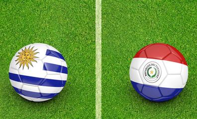 2015 Copa America football tournament, teams Uruguay vs Paraguay