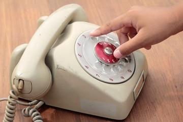 old phone of vintage style