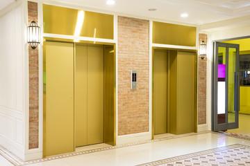 Two of luxury elevator in modern building