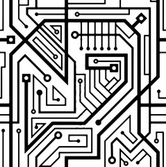 Computer circuit board seamless pattern