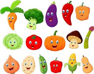 Cute vegetable cartoon character