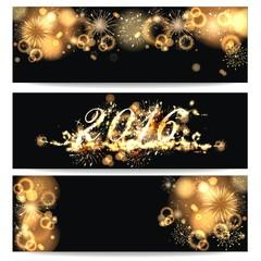 3 Hintergründe mit Feuerwerk