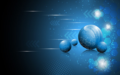 vector abstract sphere science concept background