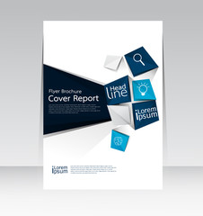 Cover Report abstract design background in A4 size