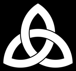 3 point Celtic Triquetra (Trinity) knot for your logo, design or project (vector illustration)