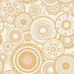 Eastern Morocco Vector Pattern in Sand Colors