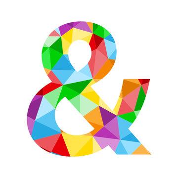 Vector Polygon Alphabet Icon AMPERSAND