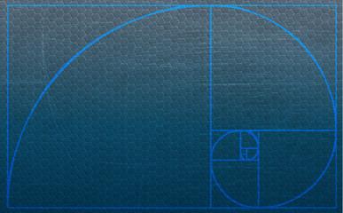 Fibonacci spiral illustration background
