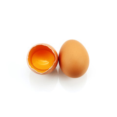 two egg isolated on white background