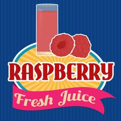 Raspberry juice sticker or label