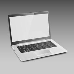 Open Silver Laptop