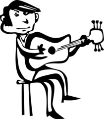 Funny guitarist