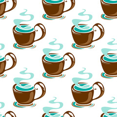 tea seamless background