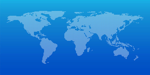 Dot World maps and globes business background, Vector illustrati
