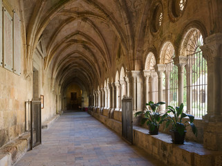 gallery of courtyard of Tarragona Cathedral