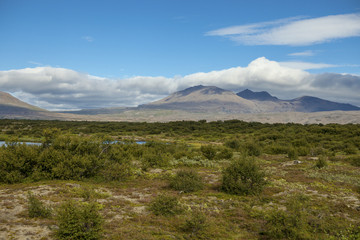 Majestic landscape near Reykjavik in Iceland.
