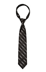 black striped necktie