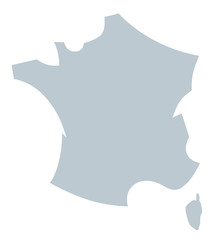 carte de france flat design