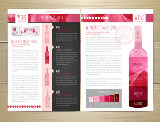 Watercolor Wine concept design. Corporate identity. Wed site design