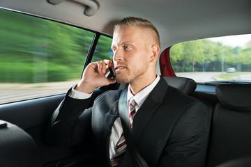 Businessman Talking On Cellphone