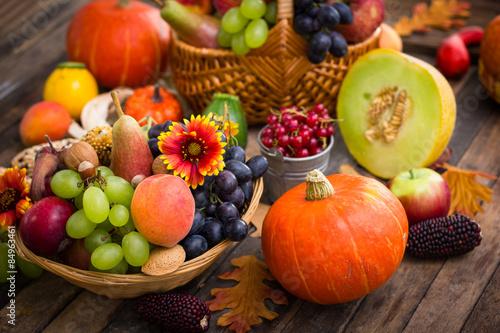 Обои для рабочего стола осень фрукты овощи