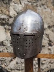 Knight's helmet.