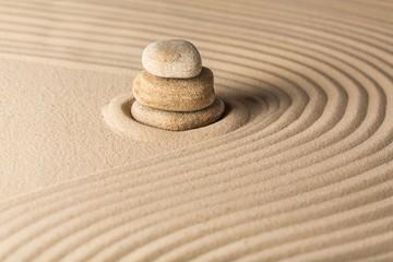Wall Mural - Sand, zen, japan.