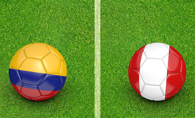 2015 Copa America football tournament, teams Colombia vs Peru