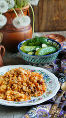 Barley Pilaf with meat