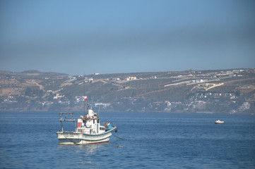 Fishing boat in the bay of Coquimbo, Chile