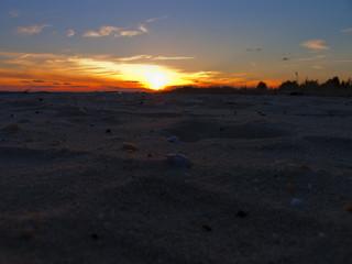 Sunset on the ocean.