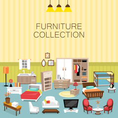 Design element and furniture collection for home interior